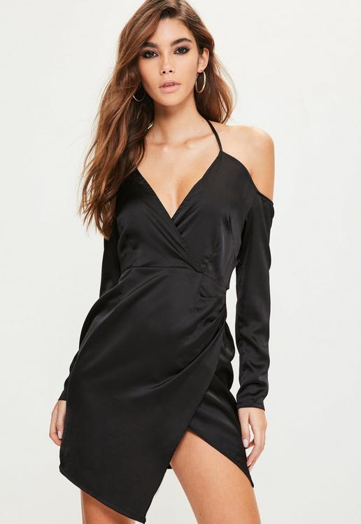 black-silky-bardot-shift-dress