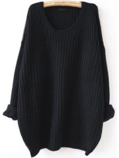 http://fr.shein.com/Black-Drop-Shoulder-Textured-Sweater-p-329698-cat-1734.html