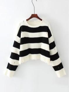 http://fr.shein.com/Block-Striped-Ripped-Knit-Sweater-p-387459-cat-1734.html