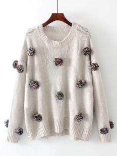 http://fr.shein.com/Pom-Pom-Design-Drop-Shoulder-Knitwear-p-387457-cat-1734.html